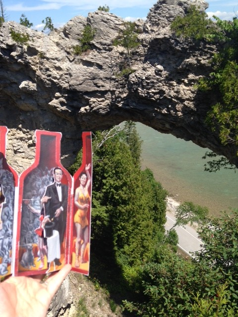 She also climbed to the top of Arch Rock in Mackinac Island